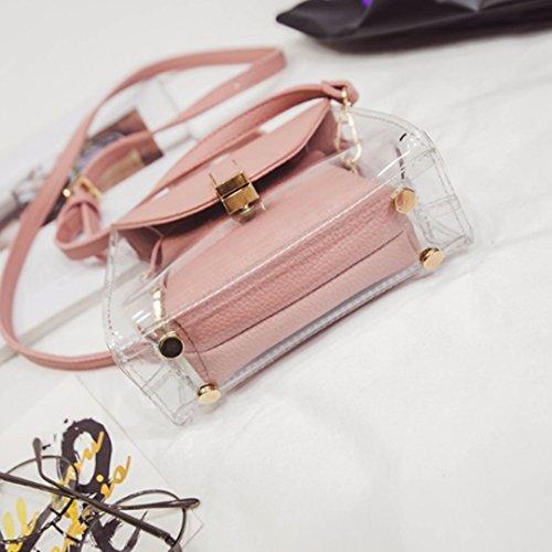 Meliya, Borsa a tracolla donna, White (Bianco) - bb-00532-02YA Pink