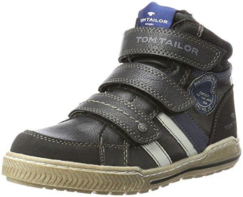 Tom Tailor Jungen 3770403 Hohe Sneaker, Schwarz (Black), 39 (Für Boot Jungen Schuhe)