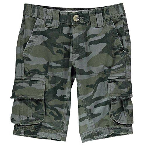 SoulCal Utility Kinder Jungen Cargo Shorts Freizeit Kurze Hose Baumwolle Camo 11-12 (LB) (Utility-chino-shorts)