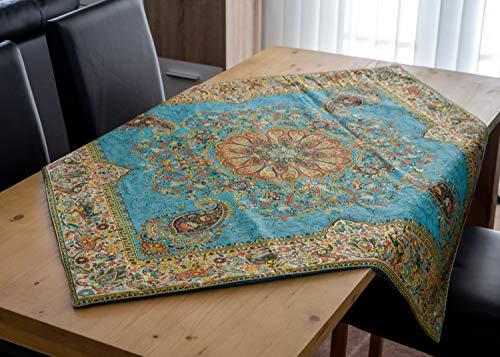Classic Collection Teppich (LPUK Tischdecke Afshari Collection Series3 Tükis 100 cm × 100 cm ca. Quadratischen Tisch Stoff Tischdecke Classic Vintage)