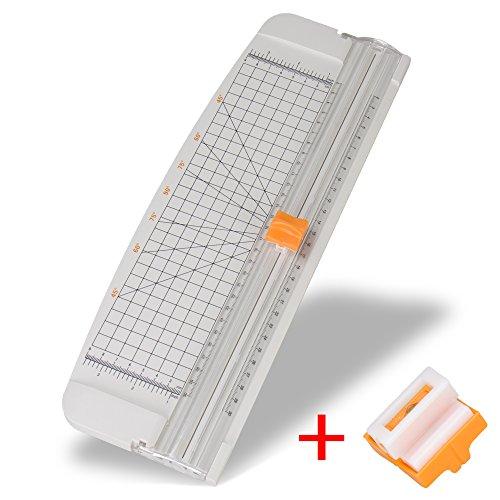 Preisvergleich Produktbild A4 Rollenschneider Papier & Foto & Etikett Schneidegerät Schneidemaschine Papierschneider,Schneidet bis zu 10 Blattes (70g/sm), Ersatz Klingen (Weiß)