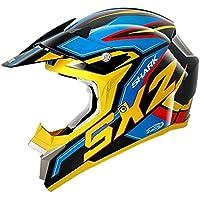 Shark Casco de Motocross, Negro/Amarillo/Azul, S