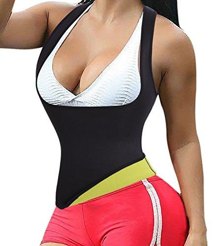Frauen Hot Weste,Schweiß Neopren Sport Body Shaper Korsett Sauna-Anzug Waist Taille Cincher (2XL(3-5 Days Delivery), Black(3-5 Days (Personen 5 Kostüme)