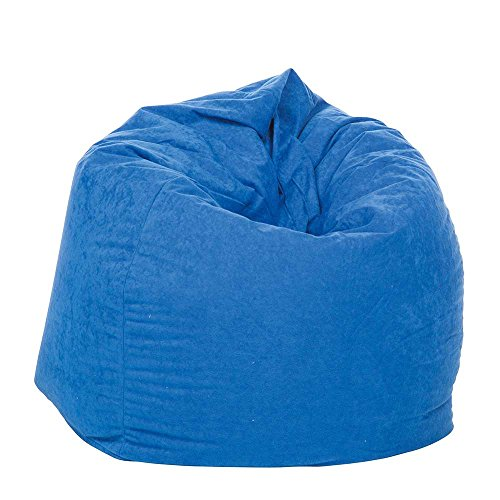 Pharao24 Kinderzimmer Sitzsack in Blau Stoffbezug