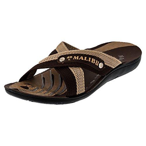 Malibu Herren Strandschuhe Sandalen Hausschuhe in Vielen Farben M356bn Braun 43