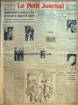 PETIT JOURNAL (LE) [No 24314] du 11/08/1929