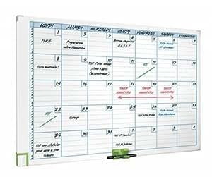 tableau blanc planning mensuel magnetique aluminium nobo 687x910 mm fournitures de. Black Bedroom Furniture Sets. Home Design Ideas