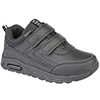 DEKS Infant Boys Kids Touch Fastening Air School Casual Smart Trainers Shoes Size 6-2