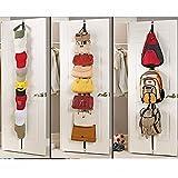 BESTOMZ Neuheit verstellbare Tür zurück Haken Aufhänger Hut Tasche Rack Halter Kleidung Organizer (zufällige Farbe)