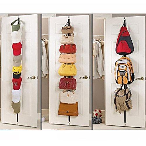 WINOMO Taschen-Garderobe Taschen Türgarderobe Taschenhalter Über Tür Riemen Tür hintere Haken Aufhänger Hut Mütze Tasche Rack Halter Riemen Kleiderbügel