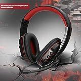 Footprintse SY733MV 4 Tasten rotierenden Mikrofon Draht Gaming Kopfhörer Kopfhörer USB Port-Farbe: schwarz und rot