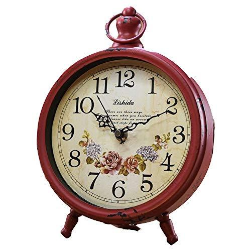 Reloj de mesa para decoración del hogar Reloj de mesa de metal de ...
