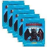 Panini - Dragons 3 Das Buch der Drachen Sammel-Sticker - 5 Booster Tütchen 25 Sticker