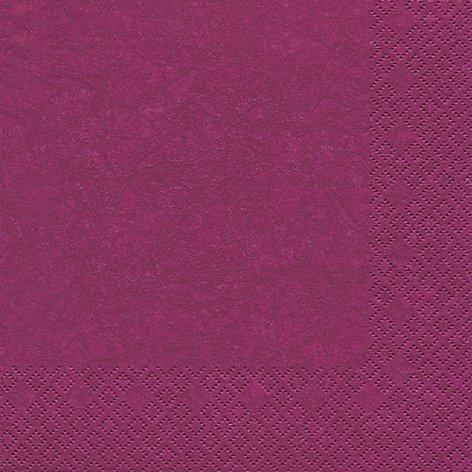20 Servietten Uni purple / Modern colours / einfarbig / zeitlos 33x33cm