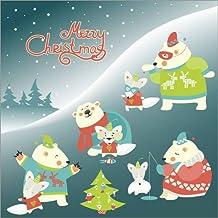 Alu Dibond 70 x 70 cm: Polar bear Christmas de Kidz Collection / Colourbox