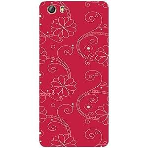 Casotec Floral Red White Design 3D Printed Hard Back Case Cover for Gionee Marathon M5 lite