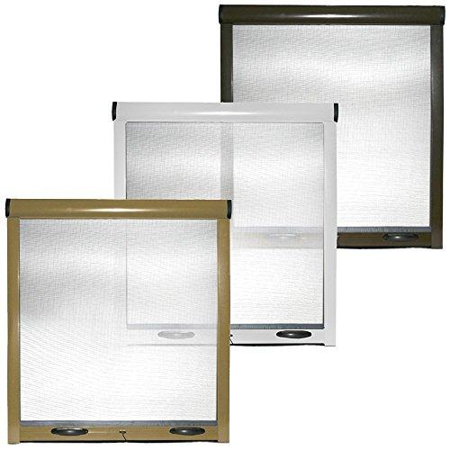 Zanzariera a rullo finestre porte Kit fai da te struttura alluminio casa bianco marrone (100x170cm) (Marrone)