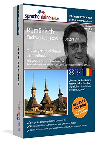 Rumänisch-Fachwortschatz-Vokabeltrainer mit Langzeitgedächtnis-Lernmethode von Sprachenlernen24: 2100 Vokabeln und Redewendungen. PC CD-ROM + MP3-Audio-CD. Für Windows 10,8,7,Vista,XP/Linux/Mac OS X
