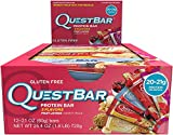 Quest Nutrition Protein Bar, Fruit Lovers Variety Pack, 5 Flavors, 20-21g Protein, 2.12oz Bar, 12 Count
