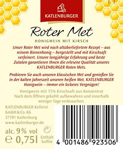 KATLENBURGER Roter Met Honigwein mit Kirschsaft aus 100% reinem Bienenhonig, 0,75 l Flasche....