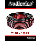 Audiopipe 100' Feet 20 GA Gauge Red Black 2 Conductor Speaker Wire Audio Cable