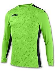 Joma - Camiseta portero derby ii verde flúor m/l para hombre