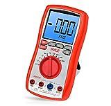 Pyle Digital LCD AC, DC, Volt, Strom, Widerstand, Reicheiten-Multimeter mit Gummihülle und Ständer, PDMT38
