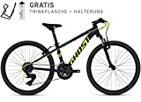 Ghost Kato Kid 2.4 AL U 24R Kinder Mountain Bike 2018 (32cm, Night Blue/Neon Yellow)