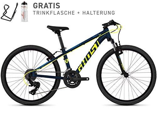 Ghost Kato Kid 2.4 AL U 24R Kinder Mountain Bike 2018 (32cm, Night Blue/Neon Yellow)