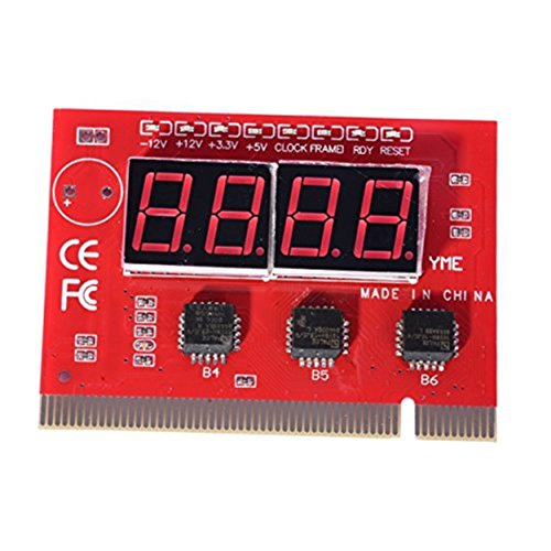 PremiumAV Motherboard Analyser Diagnostic Card Tester (Red)