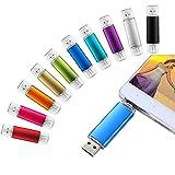 OTG USB-Speicherstick (32 GB, doppelter Stecker, für Android Smartphone, USB-TV/Computer/Tablet)