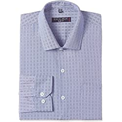 Excalibur Men's Formal Shirt (8907542609581_400016540437_44_Navy)