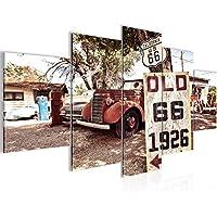 Route 66 USA Bild Leinwand Foto Kunstdruck Poster Wandbild XXL 120 cm*80 cm 604