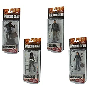 McFarlane Toys The Walking Dead AMC TV Series Series 7 Mud Walker, Carl Grimes, Michonne & Gareth 6 Action Figures by… 2
