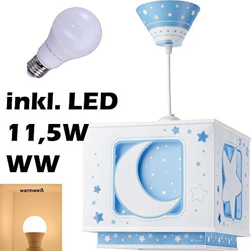LED Lampe Kinderzimmer Decke Pendelleuchte Sterne Mond 63232t warmweiß 1050lm Jungen