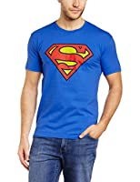 Brands In Limited Herren Slim Fit T-Shirt Superman Crackle