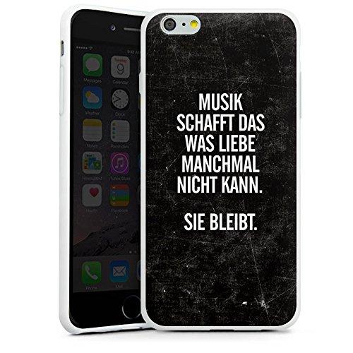 Apple iPhone 5s Silikon Hülle Case Schutzhülle Sprüche Liebe Musik Silikon Case weiß