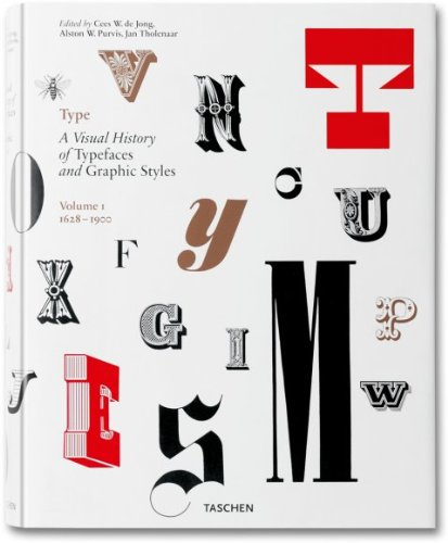 Type. Con DVD. Ediz. italiana, spagnola e portoghese: Type. A Visual History of Typefaces & Graphic Styles. 1628?1900 (Varia) por Jan Tholenaar