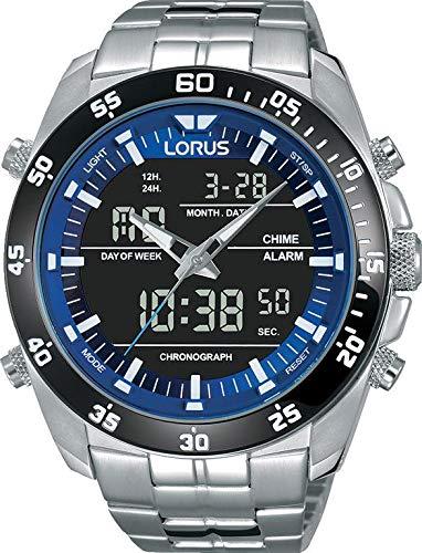 4079edb95b86 Lorus Reloj Digital para Hombre de Cuarzo con Correa en Acero Inoxidable  RW629AX9