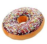 Bigood Liebe Donut Muster Dekokissen Plüschkissen Cartoon Kissen MusterD