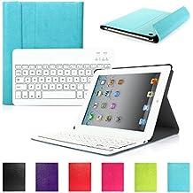 iPad 2 3 4 CoastaCloud QWERTY Italiano Layout Ultrathin Custodia con Supporto e Tastiera Bluetooth staccabile per Apple iPad 2 (A1395 A1396 A1397) ; iPad 3 (A1416 A1430 A1403); iPad 4 (A1458 A1459 A1460)Blu