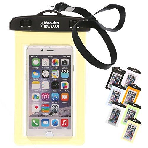 Preisvergleich Produktbild Naruba Media Waterproof | wasserdichte Handyhülle für alle Smartphones bis zu 6 Zoll |19,5 x 11,5 x 1,2 cm| inklusive Gurt und Schnellverschluss |Gelb