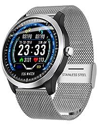 Knowin Smart Watch Fitness Armband mit Blutdruckmessung,Smartwatch Fitness Tracker mit Pulsmesser Wasserdicht IP67 Fitness Uhr Blutdruck Messgeräte Pulsuhr Schrittzähler Uhr für Damen Herren