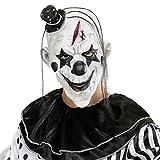 Widmann 00848 - Maske Killer Clown mit Haar und Minihut für Erwachsene