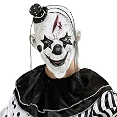 Idea Regalo - WIDMANN Maschera Killer Clown Con Capellie Mini Cappello Maschera Horror 245