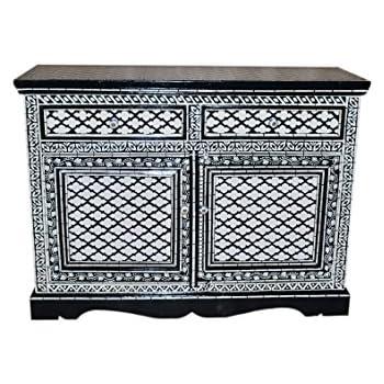 orientalische kommode sideboard dinara 120cm schwarz wei orient vintage kommodenschrank. Black Bedroom Furniture Sets. Home Design Ideas