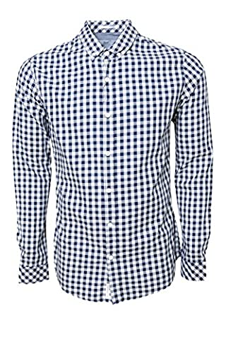 Crosshatch Mens Copen Check Shirt - Blue - Large