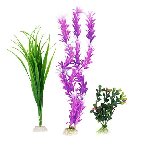 sourcingmap-plante-artificielle-deau-en-plastique-pour-aquarium-13-cm-violet-vert-3-pieces