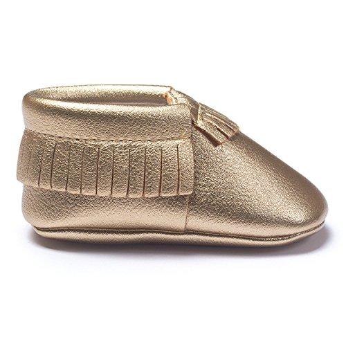 Lemandy , Chaussures premiers pas pour bébé (fille) bordeaux 11cm doré