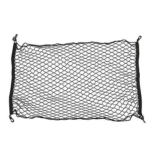 Dandeliondeme Car Cargo Net, Universal Auto Kofferraum hinten Cargo Organizer Elastic Mesh Net Storage Halter 100 cm x 70 cm Schwarz -
